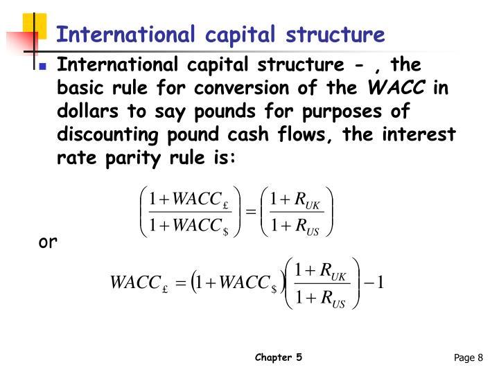 International capital structure