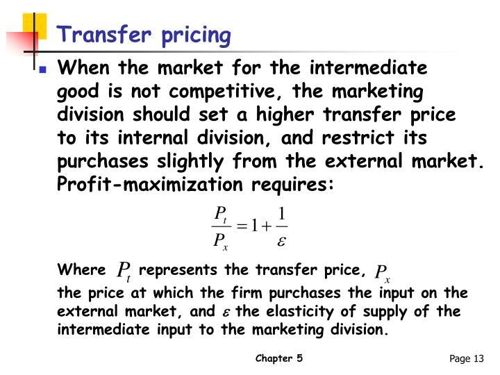 Transfer pricing