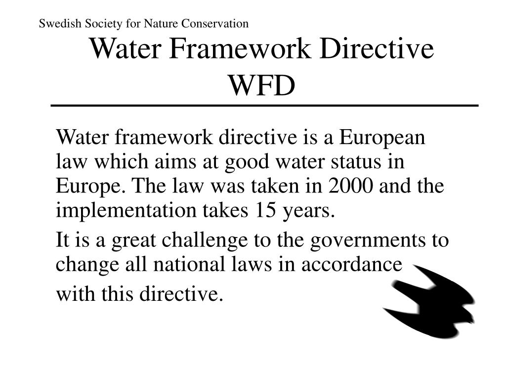 water f ramework d irective wfd l.