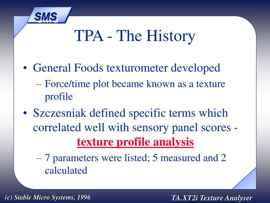 TPA - The History