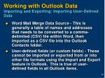 working with outlook data importing and exporting importing user defined data
