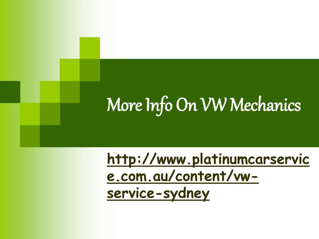 more info on vw mechanics l.