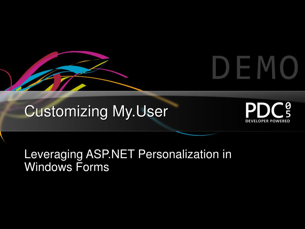 Customizing My.User