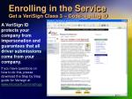 enrolling in the service get a verisign class 3 code signing id