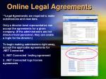 online legal agreements