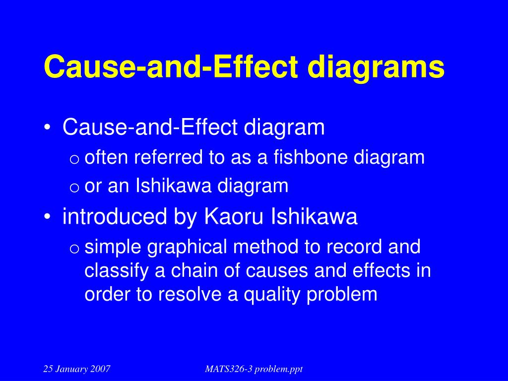 Cause-and-Effect diagrams