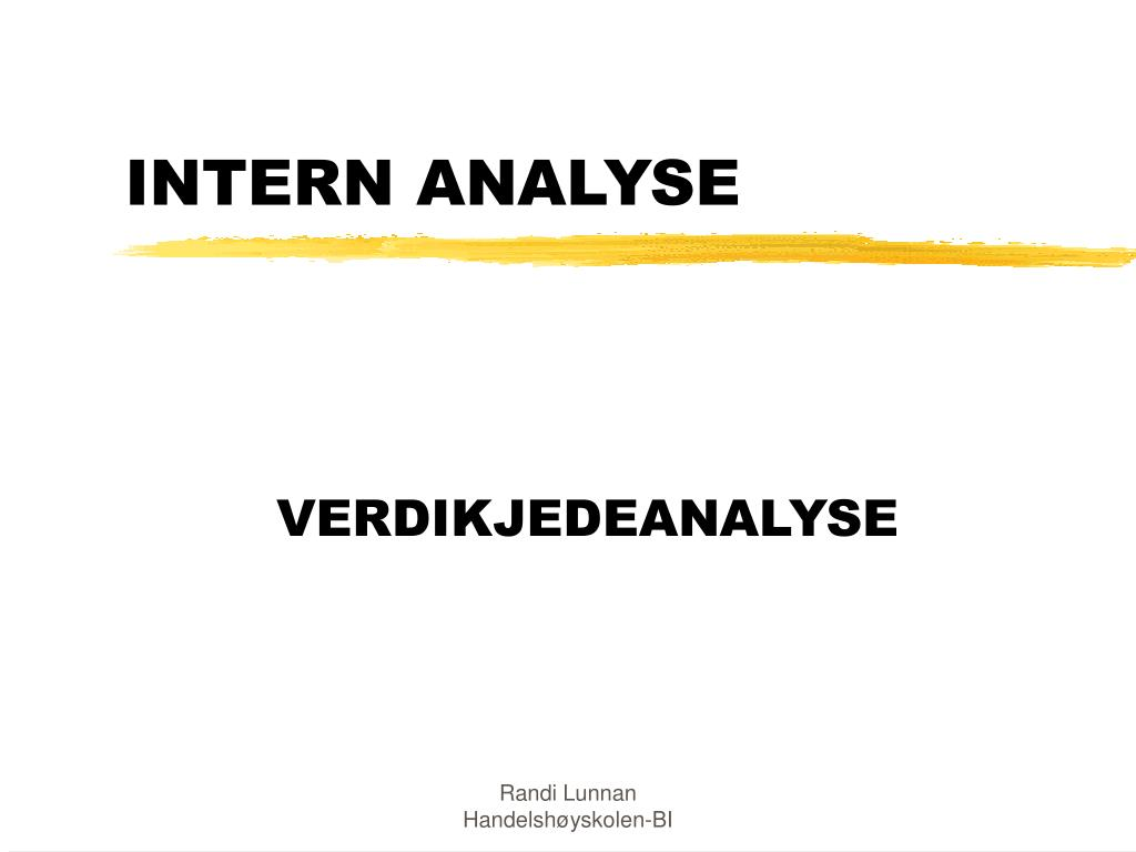 intern analyse l.