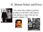 ii human nature and power17
