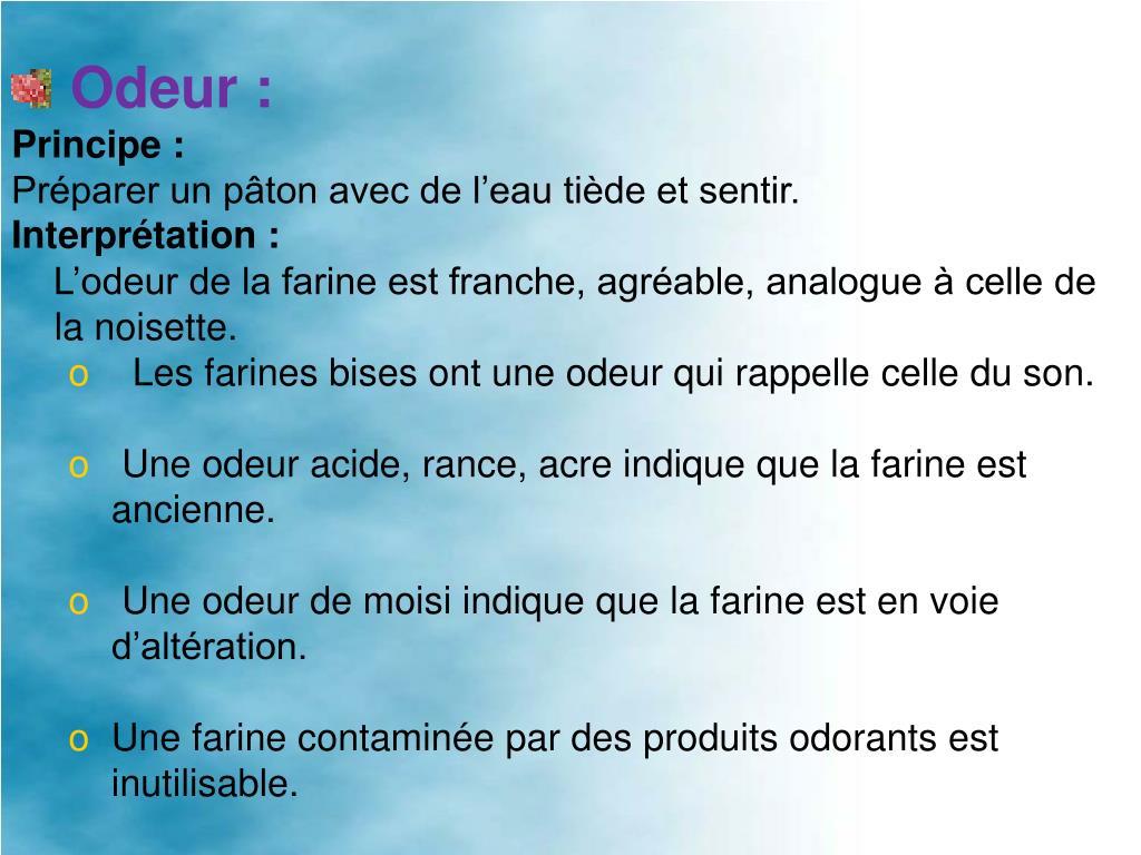 Odeur:
