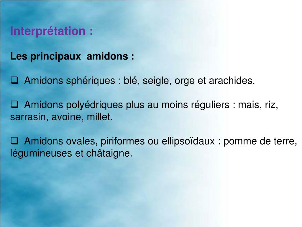 Interprétation: