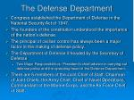 the defense department
