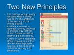 two new principles