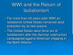 wwi and the return of isolationism