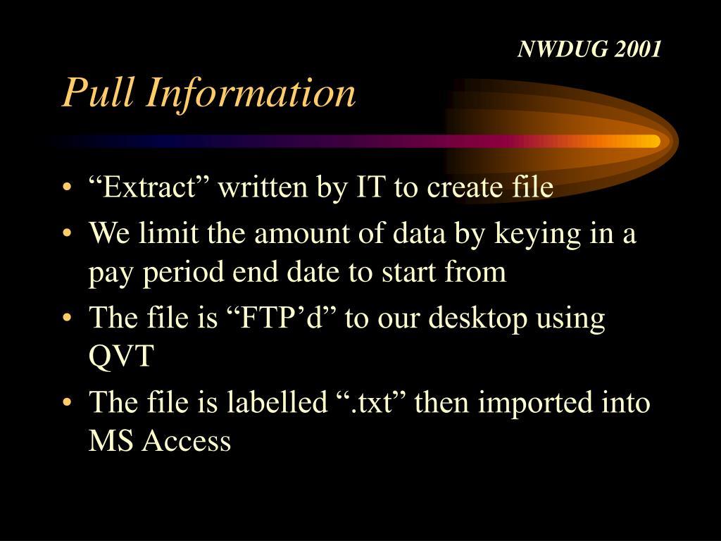 Pull Information