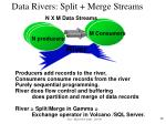 data rivers split merge streams