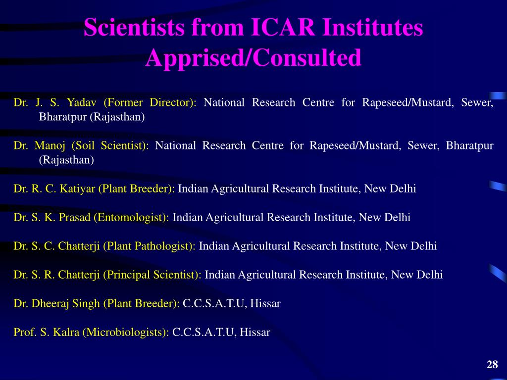 Scientists from ICAR Institutes