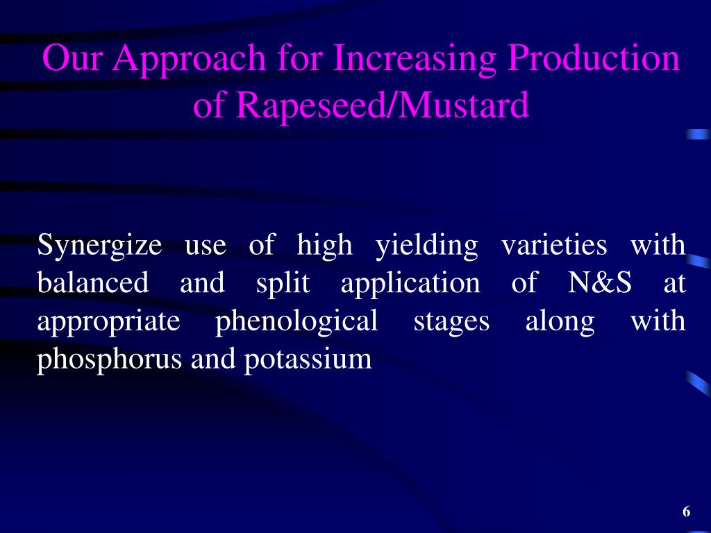 Our Approach for Increasing Production of Rapeseed/Mustard