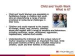 child and youth work what is it