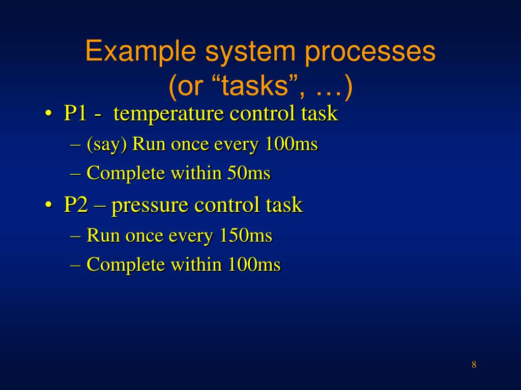 Example system processes