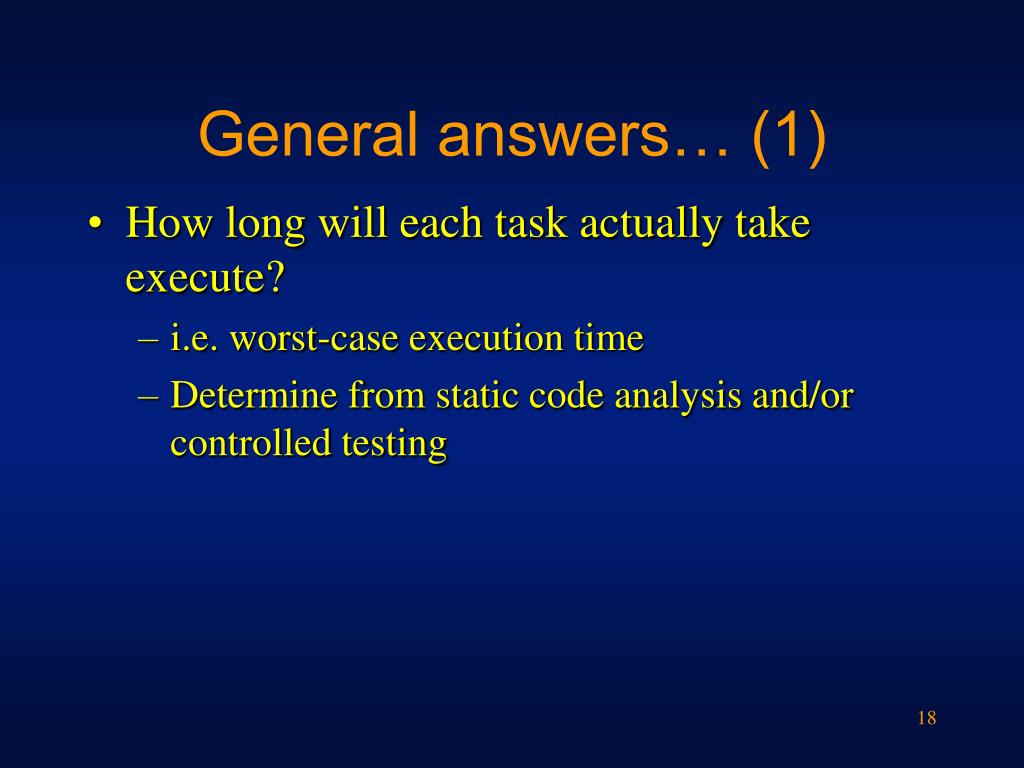 General answers… (1)