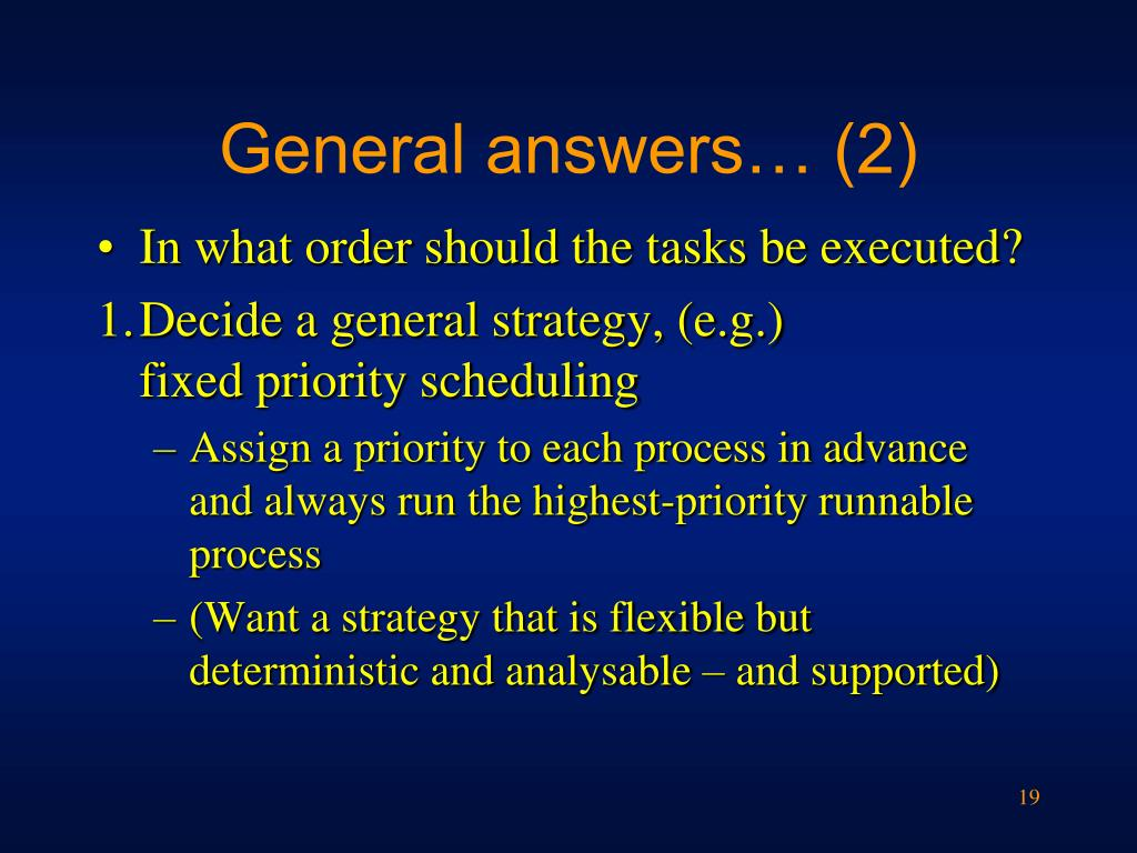 General answers… (2)