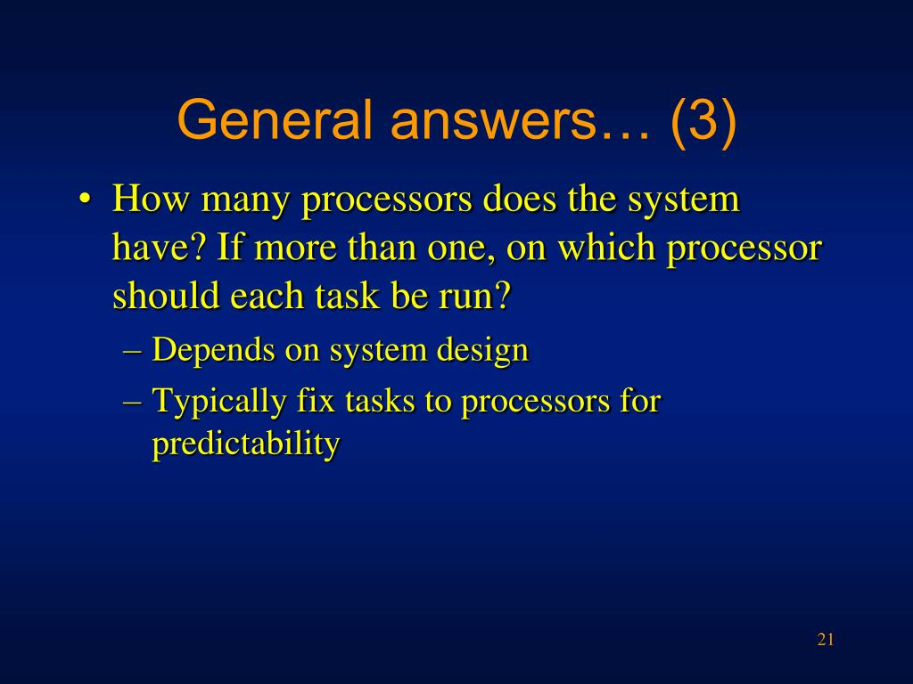 General answers… (3)