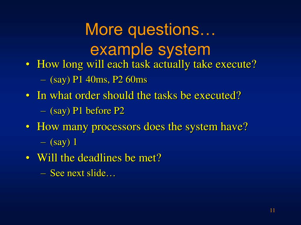 More questions…
