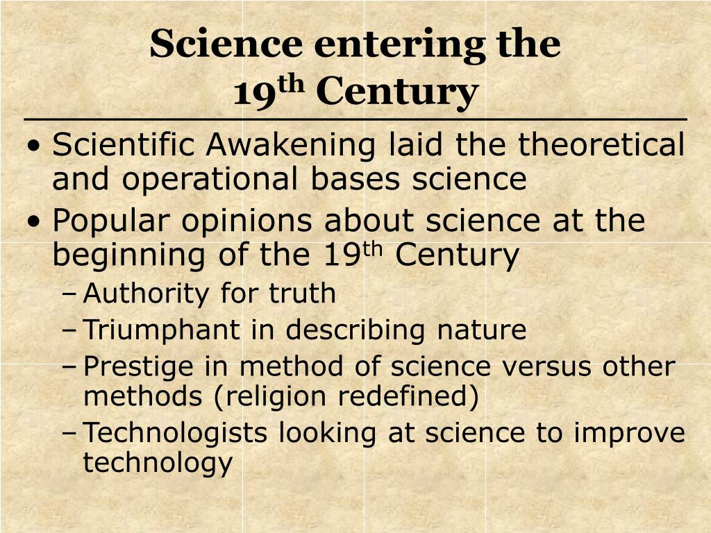 Science entering the