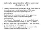 articulating apprenticeship full time vocational education and he