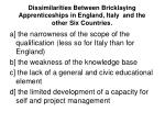 dissimilarities between bricklaying apprenticeships in england italy and the other six countries