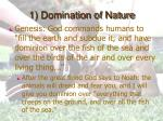 1 domination of nature