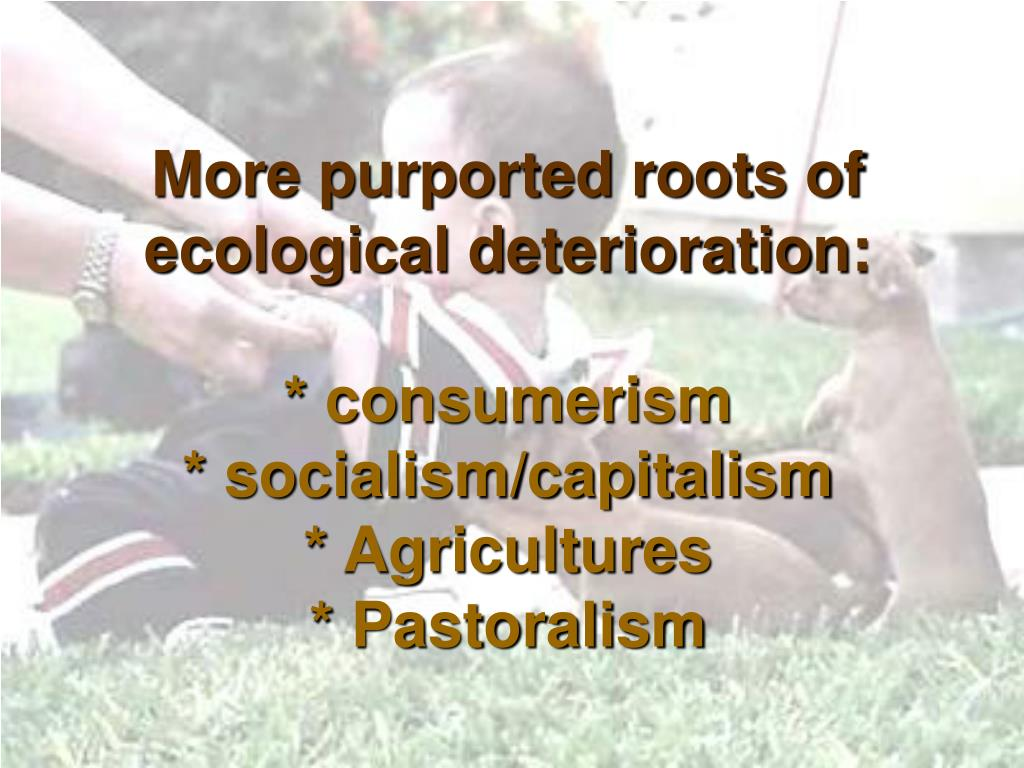 More purported roots of ecological deterioration: