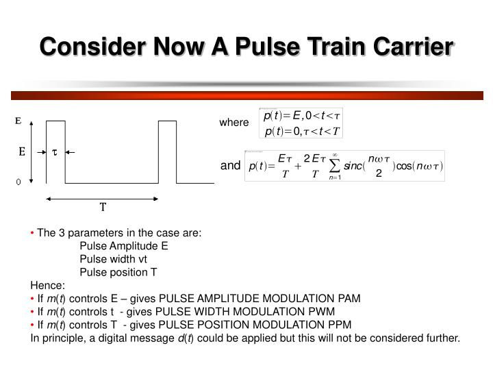 Consider Now A Pulse Train Carrier