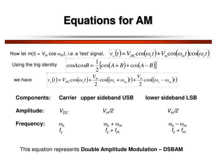 Equations for AM
