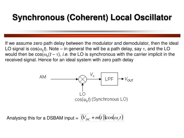 Synchronous (Coherent) Local Oscillator