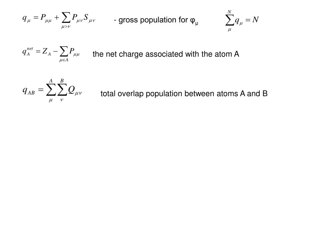 - gross population for φ