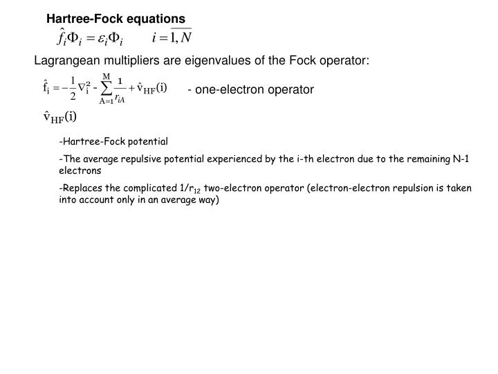 Hartree-Fock equations