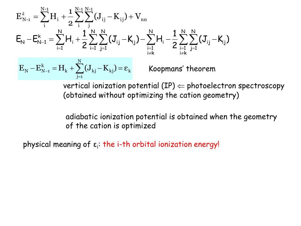 Koopmans' theorem
