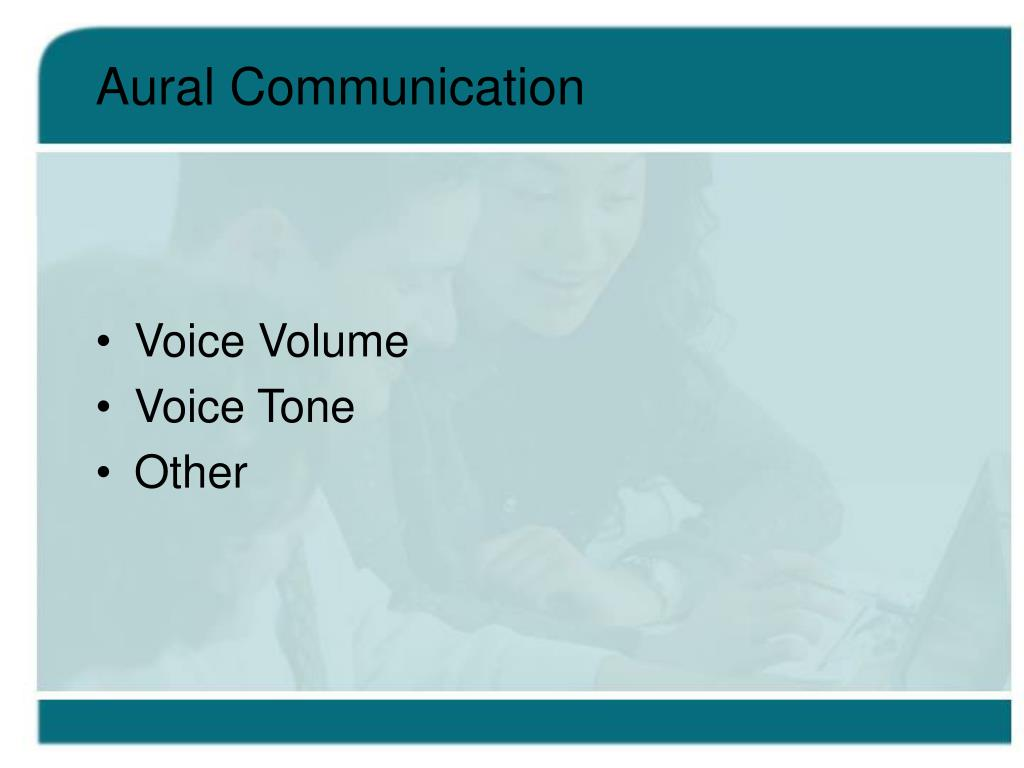 Aural Communication