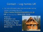 contact log homes uk