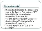 chronology iv