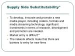 supply side substitutability39