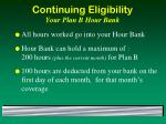 continuing eligibility your plan b hour bank
