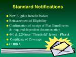 standard notifications