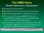 the hmo plans health maintenance organization