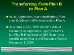 transferring from plan b to plan a23