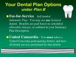 your dental plan options under plan b