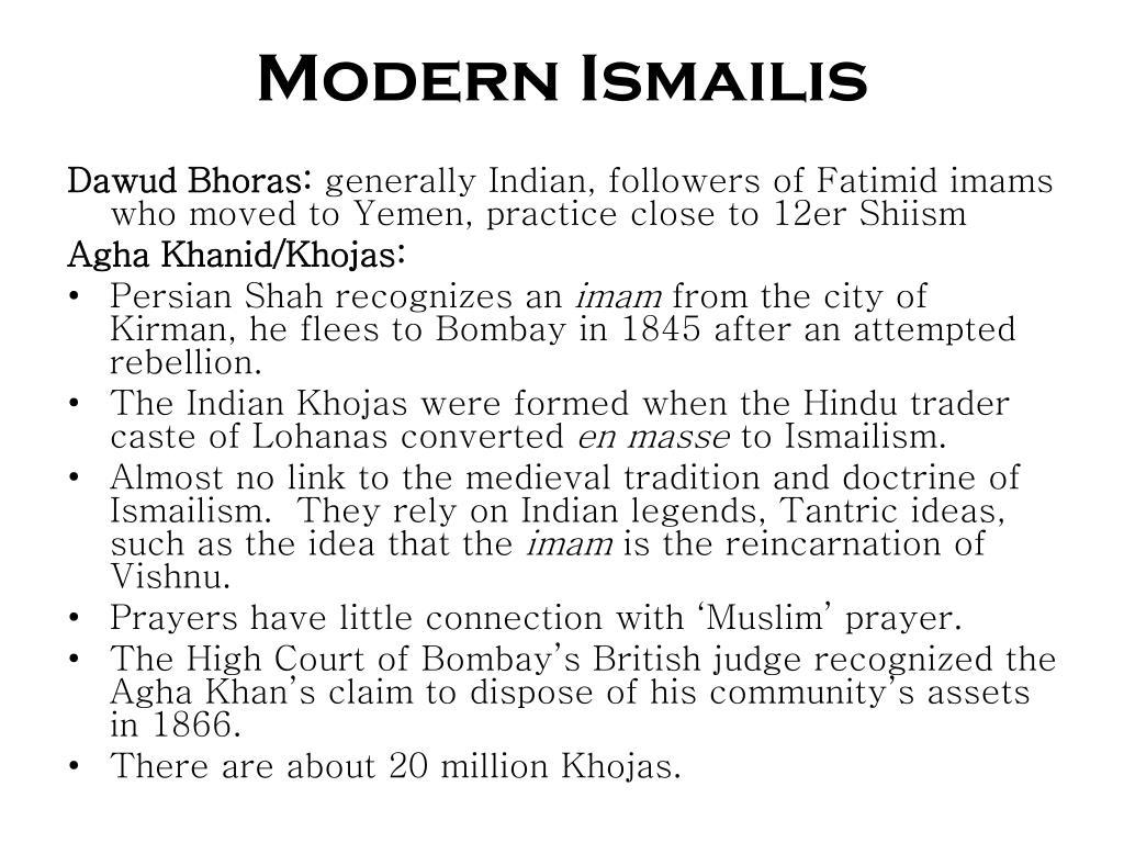Modern Ismailis