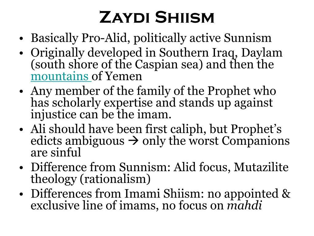 Zaydi Shiism