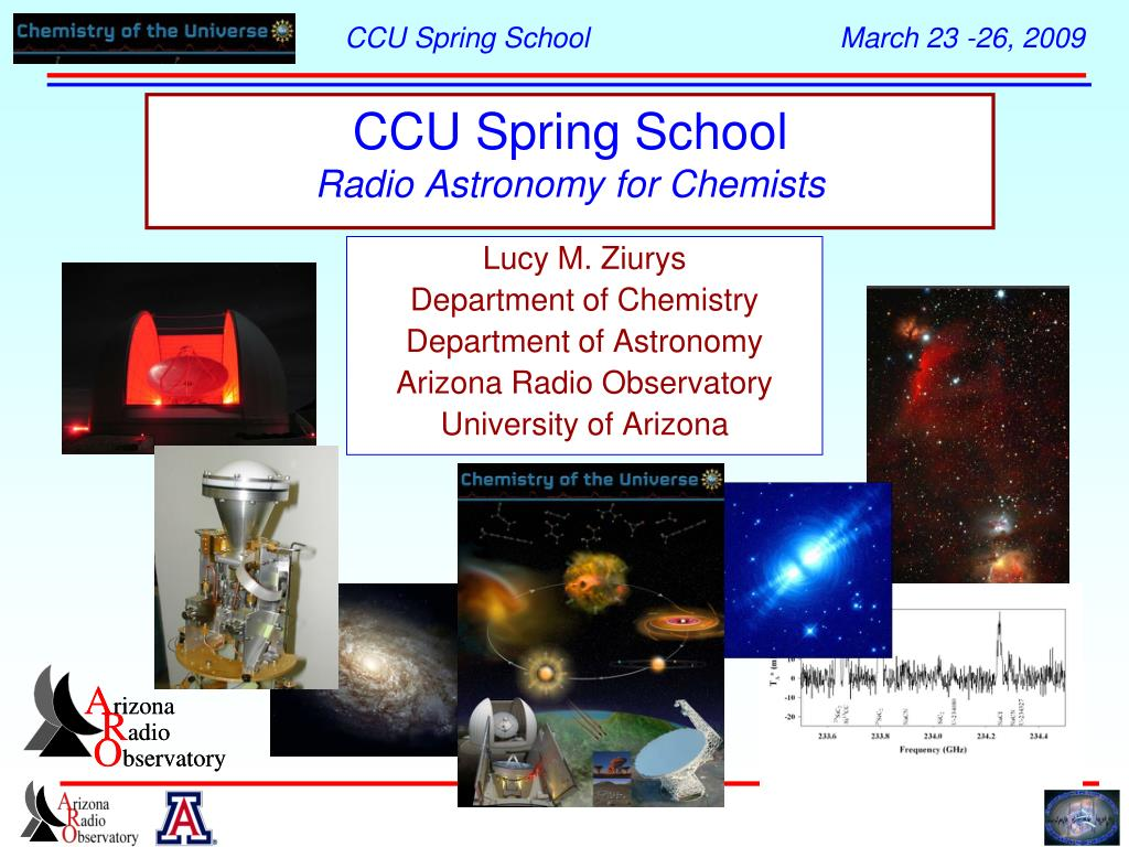 ccu spring school radio astronomy for chemists l.